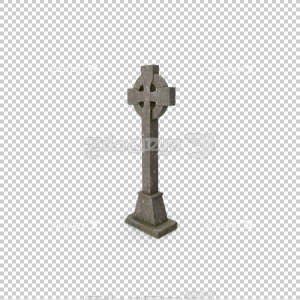 تصویر سه بعدی دوربری نماد کلیسا و مسیحیت