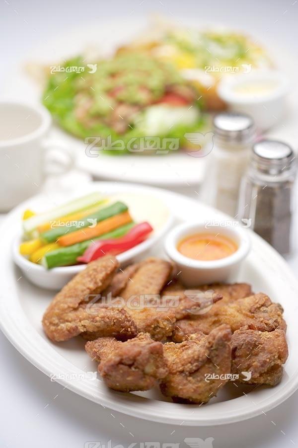 تصویر با کیفیت از مرغ سوخاری