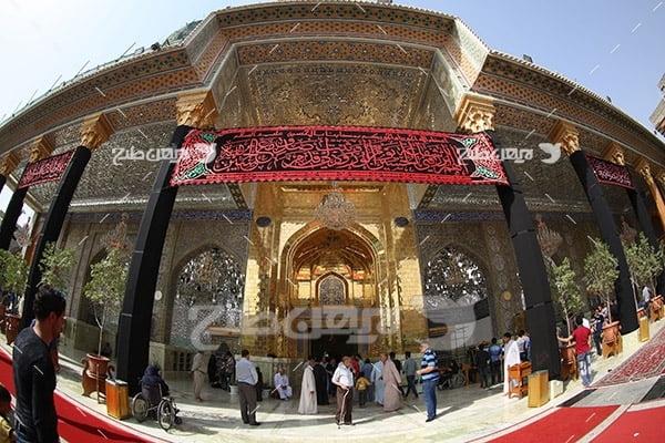 عکس از درب ورودی حرم امامین عسکریین