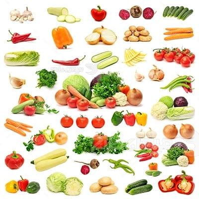 عکس تبلیغاتی سبزیجات سالاد و ترشی
