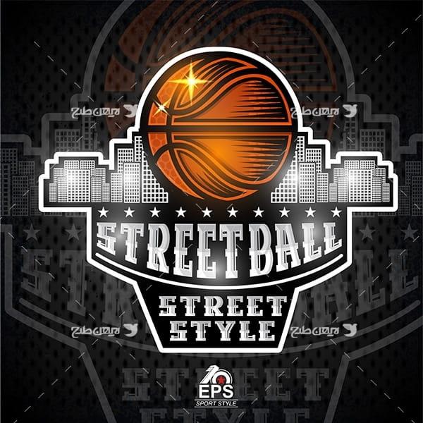 طرح وکتور گرافیکی با موضوع ورزش بسکتبال