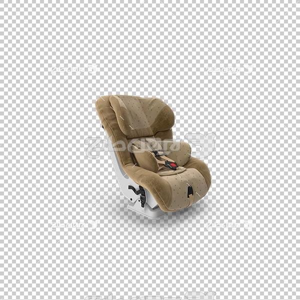 تصویر سه بعدی دوربری صندلی کودک در ماشین