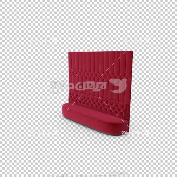 تصویر سه بعدی دوربری مبل قرمز بزرگ