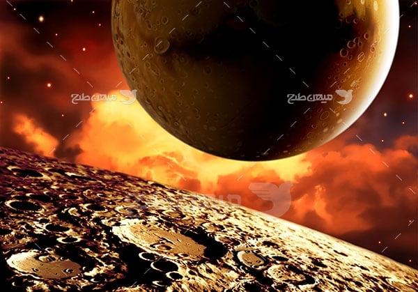 عکس سیاره ماه و مریخ