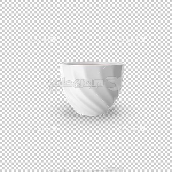 تصویر سه بعدی دوربری لیوان و استکان