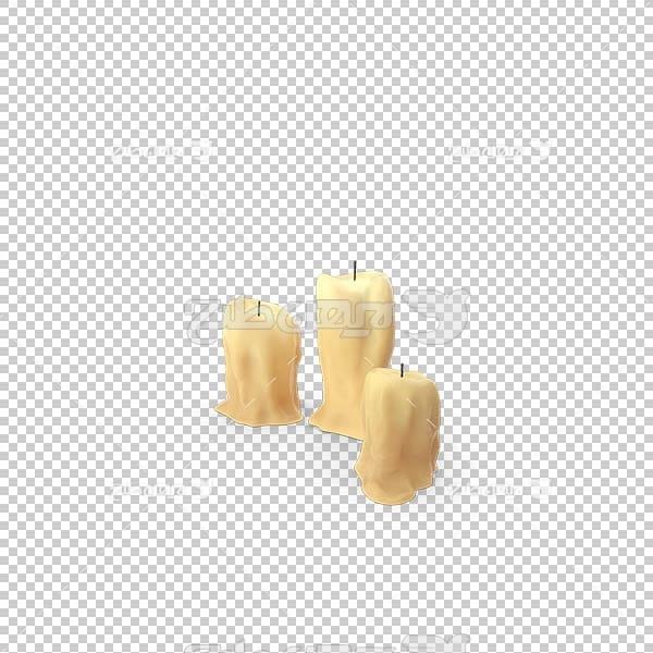تصویر سه بعدی دوربری شمع خاموش