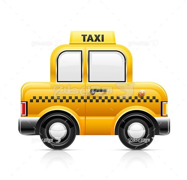 وکتور ماشین تاکسی
