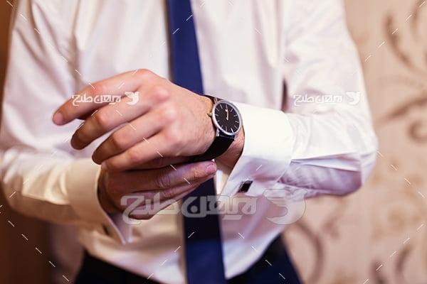 عکس پیراهن مردانه کراوات