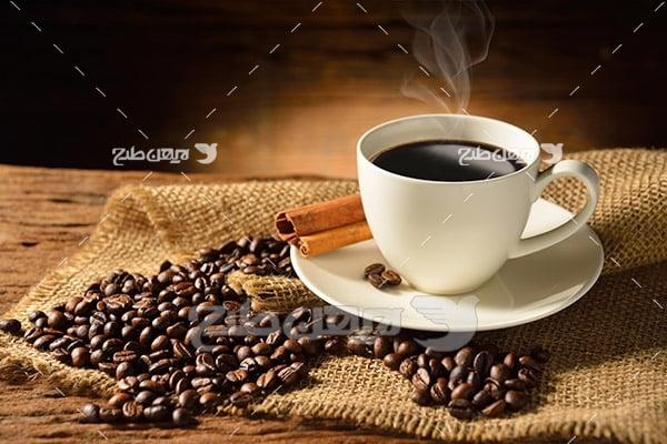 عکس قهوه داغ در فنجان
