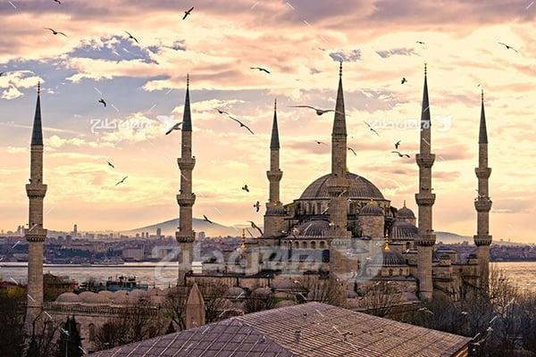عکس مسجد در استانبول