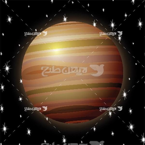 وکتور سیاره های فضایی