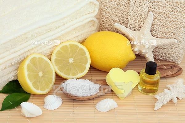 عکس لیمو و روغن و نمک مخصوص ماساژ