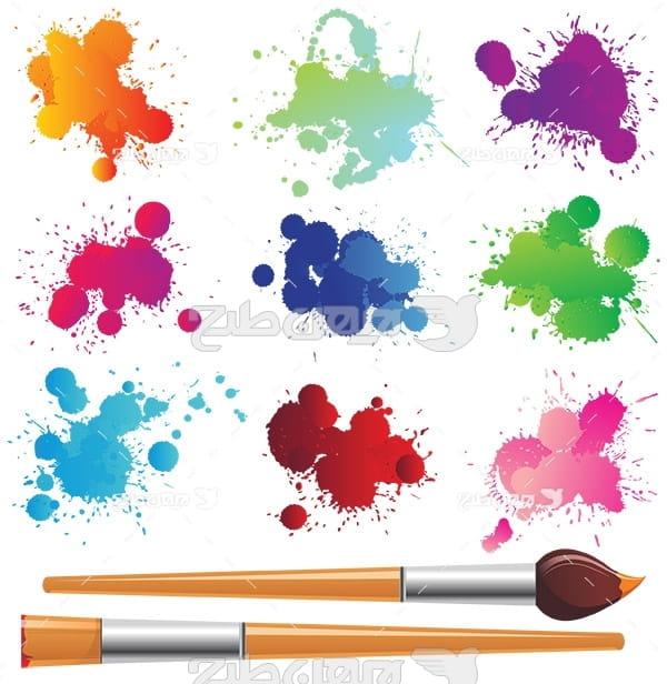 وکتور قلم موی نقاشی