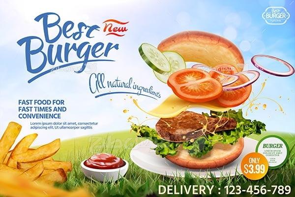 وکتور ساندویچ همبرگر