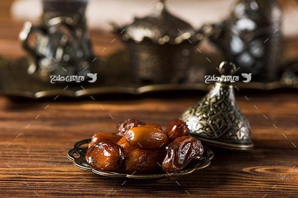 تصویر با کیفیت از افطاری،خرما
