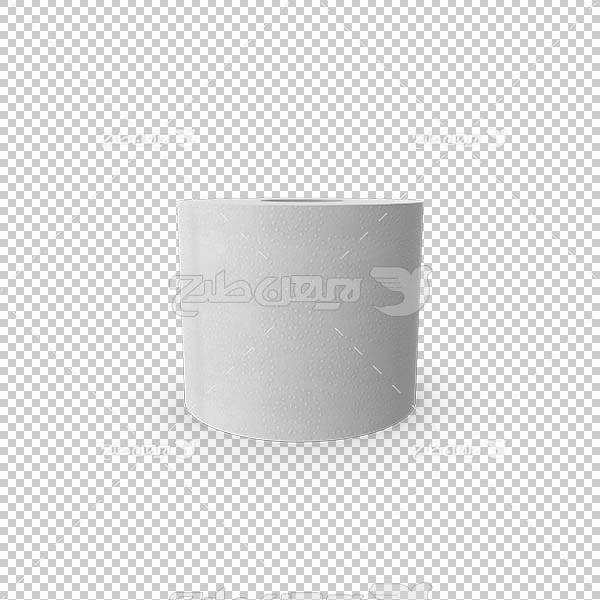 تصویر سه بعدی دوربری دستمال رول