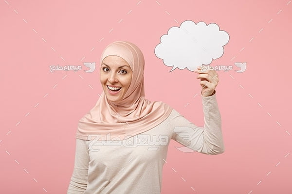 عکس تبلیغاتی زن با حجاب