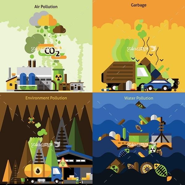 طرح وکتور محیط زیست