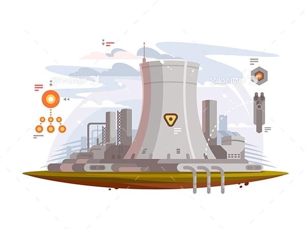 طرح وکتور صنعتی نیروگاه اتمی