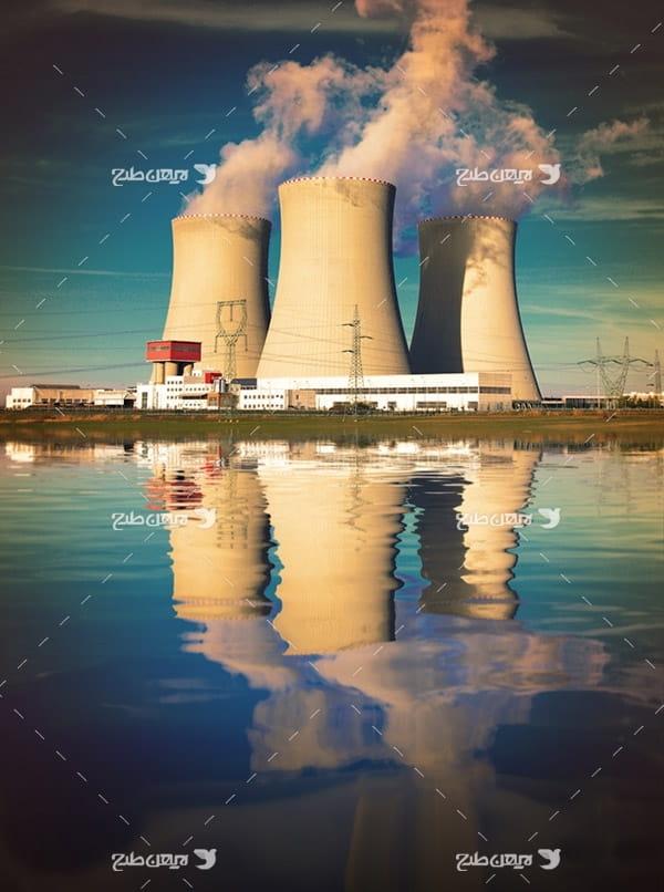 تصویر صنعتی از نیروگاه هسته ای