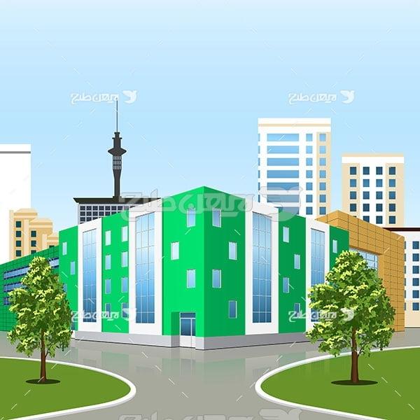 وکتور ساختمان و شهر
