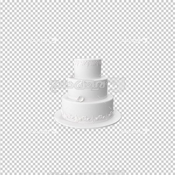 تصویر دور بری سه بعدی کیک عروسی