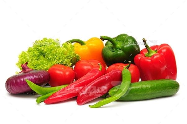 عکس تبلیغاتی سبزیجات سالاد