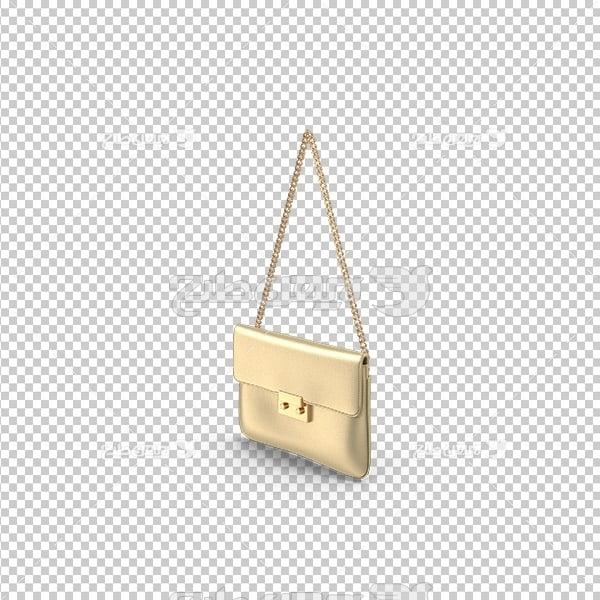 تصویر دوربری سه بعدی پی ان جی کیف زنانه