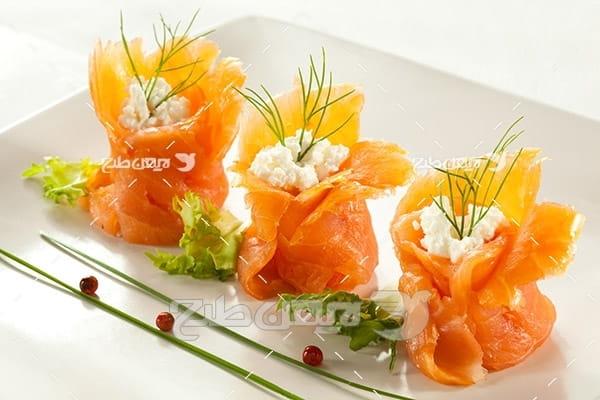 عکس گوشت ماهی سوشی ژاپنی