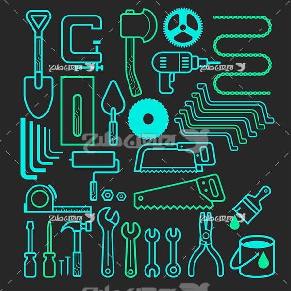 وکتور لوگو و آیکن ابزار آلات