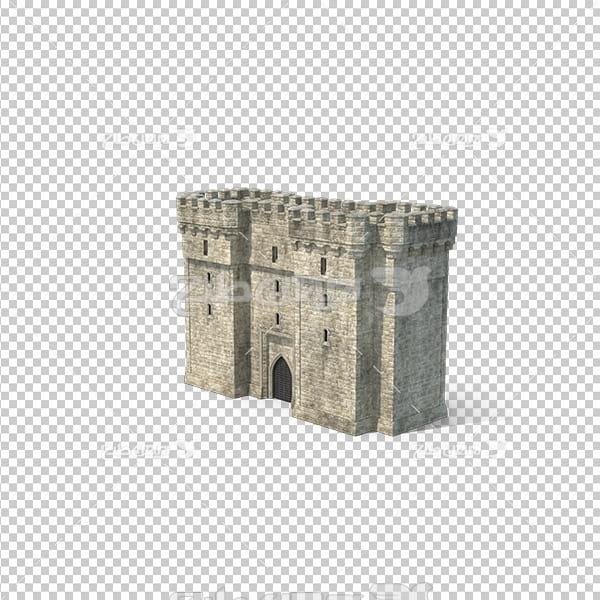 تصویردوربری سه بعدی قلعه قدیمی