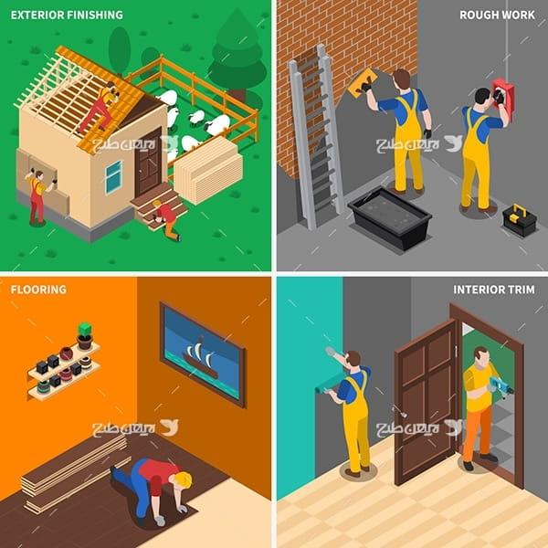 وکتور بنایی و رنگ زنی و نجاری و تعمیرات