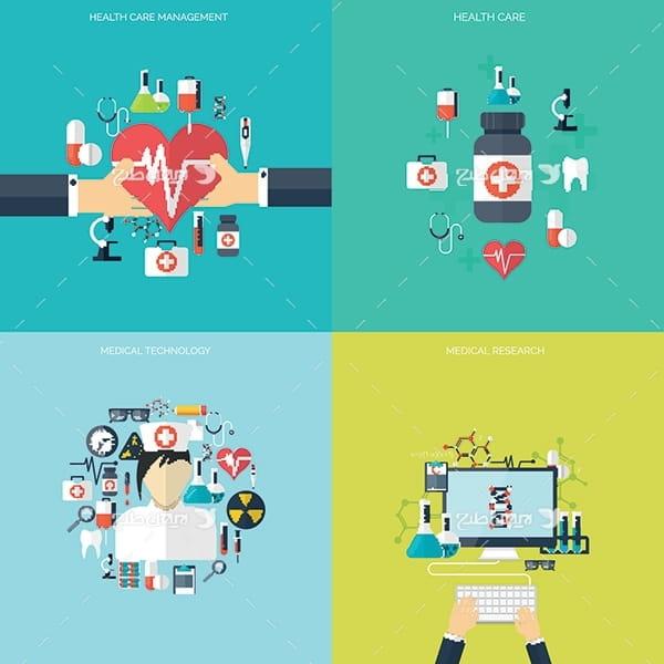 طرح وکتور گرافیکی با موضوع پزشکی