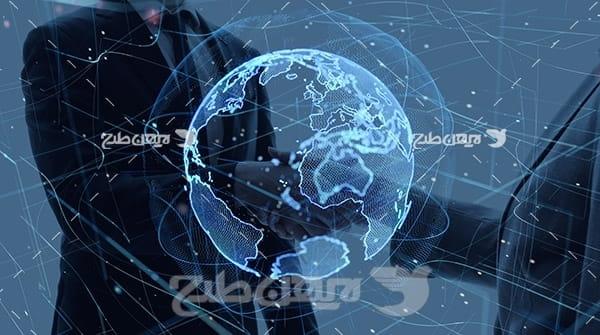 عکس گرافیکی از جهان