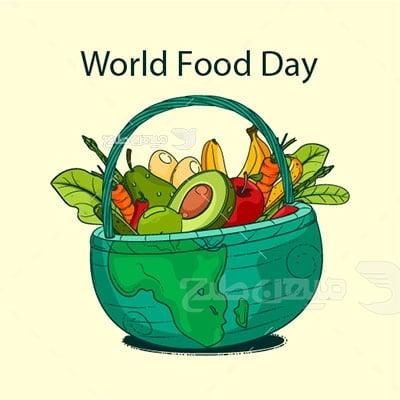وکتور کاراکتر سبزیجات روز جهانی غذا