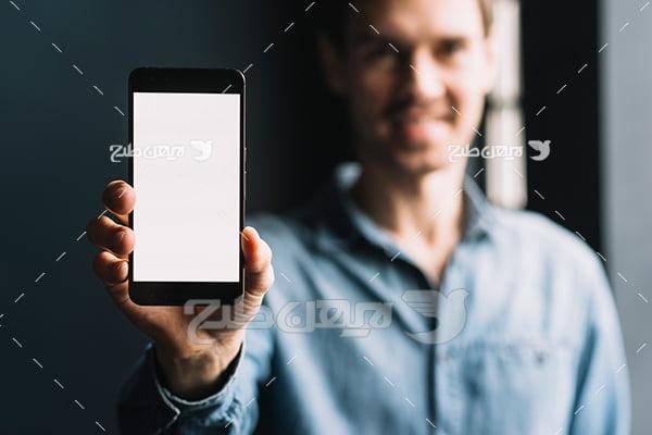 عکس تلفن همراه و انسان