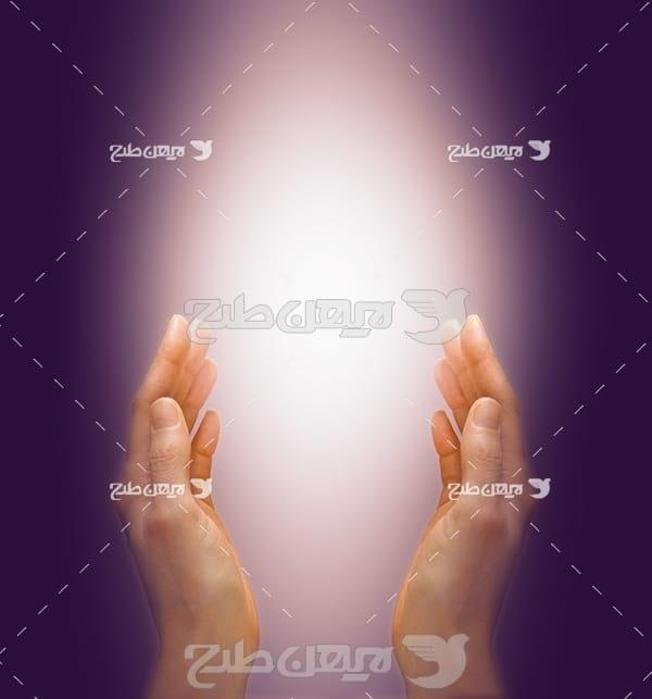 عکس مذهبی دست های رو به دعا