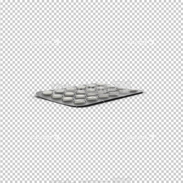 تصویر دوربری سه بعدی بسته قرص