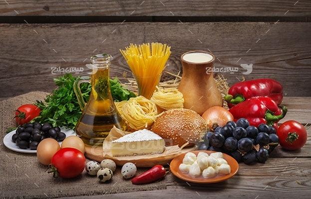 عکس تبلیغاتی صبحانه سبزیجات و غلات