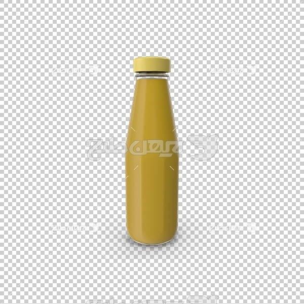 تصویر سه بعدی دوربری بطری خردل
