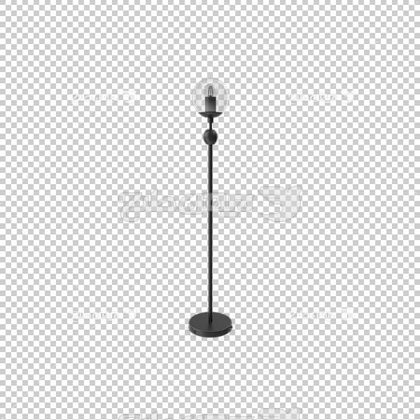 تصویر سه بعدی دوربری چراغ و لامپ