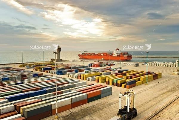 تصویر صنعتی گمرک،کانتینر،کشتی