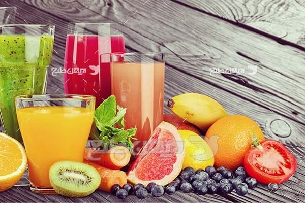 عکس لیوان آب میوه