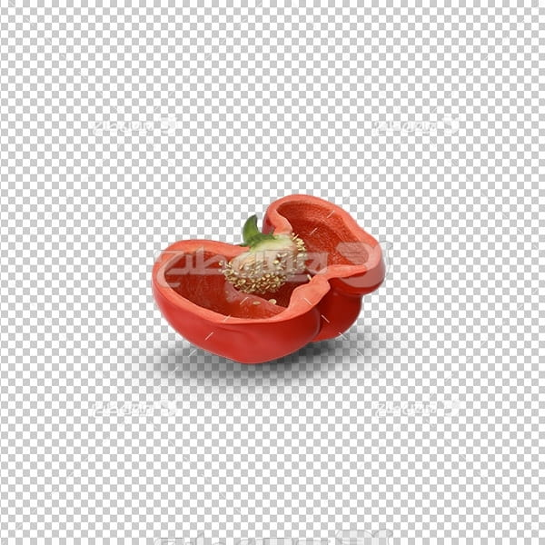 تصویر دوربری سه بعدی فلفل دلمه
