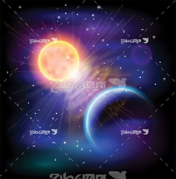 وکتور خورشید در فضا