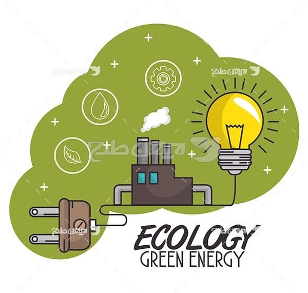 وکتور انرژی و تولید برق و لامپ