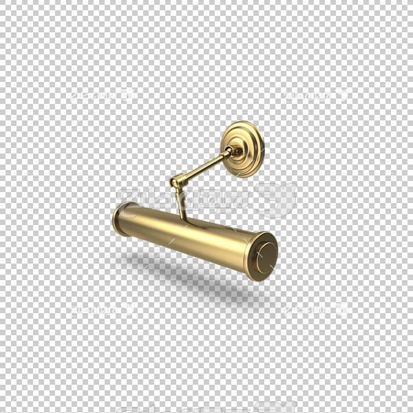 تصویر سه بعدی دوربری لامپ تصویری طلایی کلاسیک
