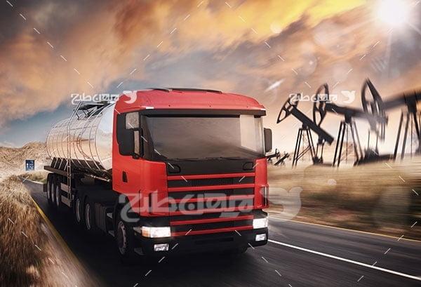 تصویر کامیون حمل نفت