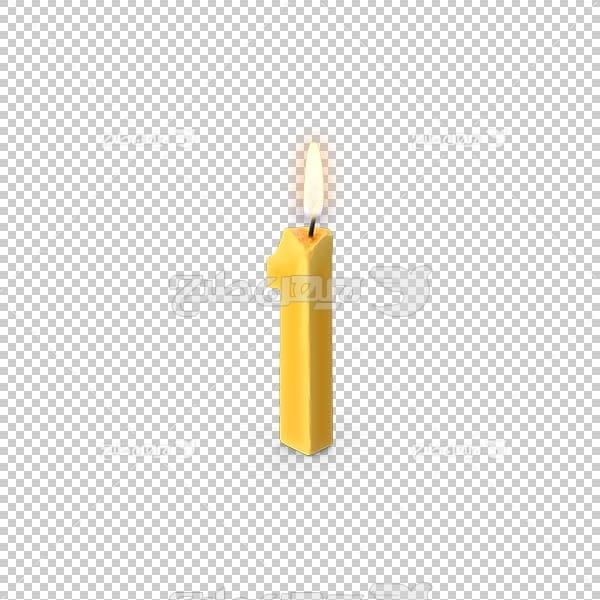 تصویر سه بعدی دوربری شمع روشن