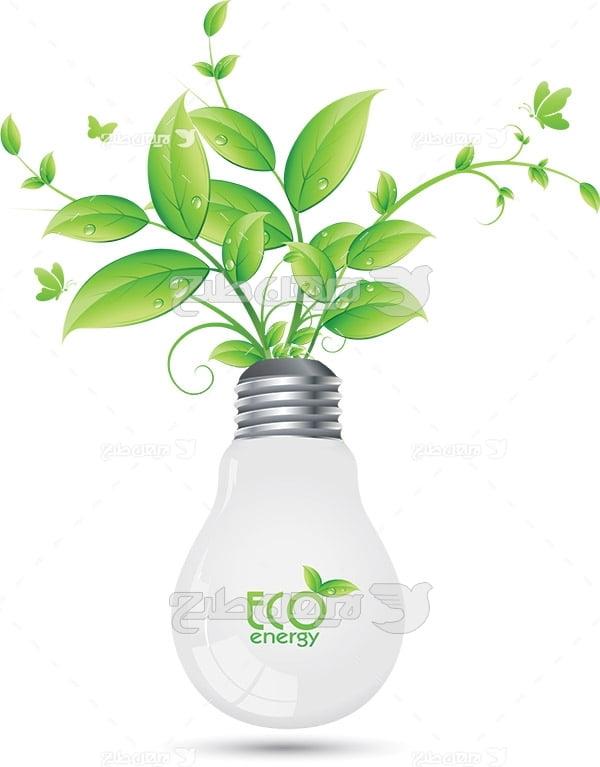 وکتور کاشت گیاه در لامپ